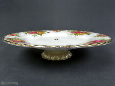 """OLD COUNTRY ROSES 20cm 8"""" CAKE STAND / LOW COMPORT, 1st QUALITY, GC, ALBERT"""