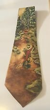 VINTAGE MASTER PRINTS BY ARCO FLY FISHING NECKTIE TIE