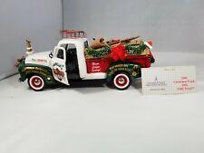 Franklin Mint Green White 1950 GMC Longbed Pickup - 2000 Christmas Truck