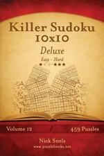 Killer Sudoku 10x10 Deluxe - Easy to Hard - Volume 12 - 459 Puzzles by Nick...