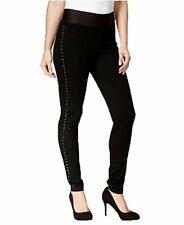 Style & Co. Embellished Pull-On Black Wash Jeggings Medium