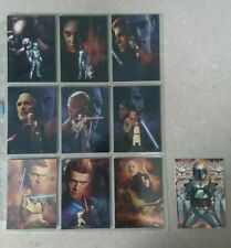 Star Wars Topps Trading Cards Silver Foil Cards Complete Set Of 10 (2002)