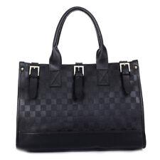 Womens Ladies Checker Board Style Pu Faux Leather Handbag Hand Bag Cross Body UK