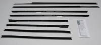 1965-1966 Buick Electra 2 Door Hard Top Repops Window Felt Weatherstrip Kit 8pc