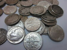Rolled Box of 1,250 Circulated Roosevelt Dimes 1946-1964, 90% Silver!