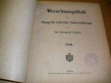 Sachsen 1889 ! Verordnungsblatt Kirche evang. lutherisc
