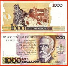 BRESIL billet neuf  1000 CRUZADOS Pick213b RIO DE JANIERO EN 1905 MACHADO  1988