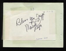 """Martha Raye Signed Album Page Inscribed """"To Jeff"""" Autographed in 1980"""