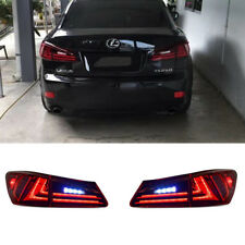 Pair Fit For Lexus IS250 IS350 IS F LED Tail Lamps 2006-2012 Red Clear Lens Set