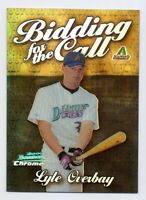 2000 Bowman Chrome LYLE OVERBAY Rare BIDDING FOR THE CALL REFRACTOR ROOKIE #BC15