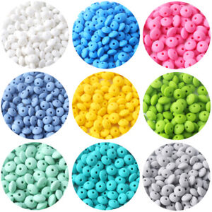 12mm Lentil Silicone Teether Silicone Beads DIY Teething Necklace Chewable Toys