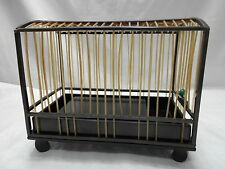Antique Japanese Tortoise-Shell, Horn and Jade Bird Cage Lacquered c.1900s
