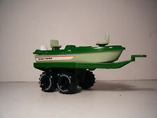 VINTAGE TOOTSIE TOY BASS BOAT AND TRAILER PLASTIC