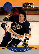 1990-91 PRO SET HOCKEY DAVE LOWRY ROOKIE CARD #265 ST. LOUIS BLUES MT/MT-MINT