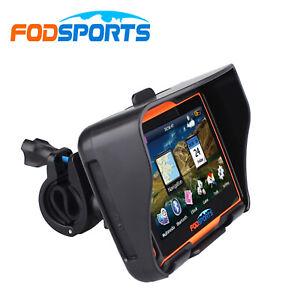 4.3'' Car Motorcycle GPS SAT NAV Bluetooth Motorbike Truck Navigation + EU Maps