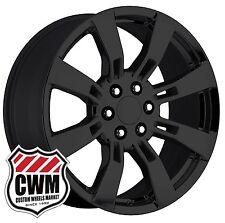 "OE Performance 144GB 20 inch 20x8.5"" GMC Yukon Denali CK375 Black Wheels Rims"