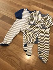 Lot Of 2 Boys Cotton Sleepers With Zippers Size 6-9
