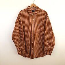 US Polo Assn Mens Button-Up Shirt 2XLT XXL Yellow Red Orange Plaid NEW NWT $38