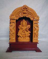 "Hindu Goddess Saraswati 11"" Marble Statue Sarasvati Devi Sculpture Figurine Gift"