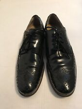 Hush puppy Boseman black leather wingtip lace up oxfords size 10