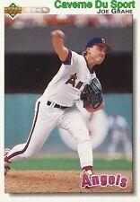 542 JOE GRAHE CALIFORNIA ANGELS BASEBALL CARD UPPER DECK 1992