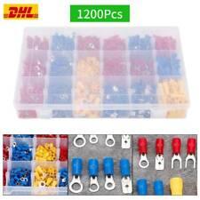 480//900//1200x Kabelschuhe Sortiment Box Steckverbinder Flachstecker Kabel Schuhe