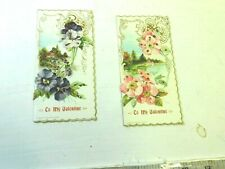 Vintage Valentines Lot 70 - Lot of 2 used cards no writing has glitter loose