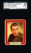 Gary Cooper -1937 Garbaty Film Lieblinge Card #123; Passion Cig; SGC 8 (NM/MT)