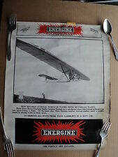 vintage 1920's ENERGINE Dry Cleaning Product Sign w German Airplane Photo
