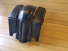 "HARLEY DAVIDSON SOFTAIL 4""STRETCHED SADDLEBAGS,LIDS & REAR OVER OVERLAY FENDER"