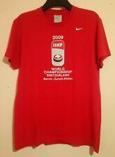 2009 INTERNATIONAL ICE HOCKEY FEDERATION IIHF WORLD CHAMPIONSHIP RED T SHIRT L