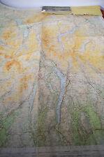 "Large 39"" x 32"" Ordnance Survey 1948 Cloth Map The Lake District England"