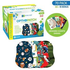 Infants Extra Sensitive Adhesive Eye Patch Boys 70 Pack Series I OPTHOPATCH