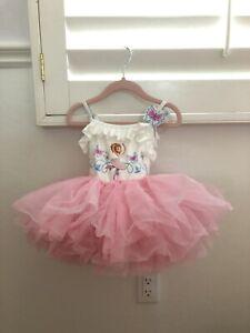 Disney Store Fancy Nancy Deluxe Leotard Dress Size 2T Outfit Butterfly
