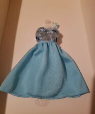 METALLIC LIGHT BLUE  Dress FOR TALL & Original fashionista BARBIE body