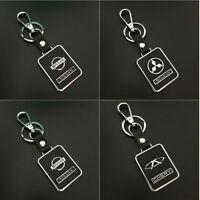 Fashion Car Logo Titanium Key Chain keychain Ring Keyfob Metal Keyring Holder