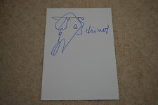 Markus Lüpertz Signed Autograph 20x30 cm In Person Plus Drawing Drawing
