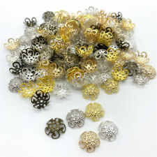 100pcs 10mm Jewelry Finding Alloy Beads Cap Ancient Charms Flower Jewelry Making