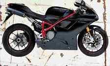 Ducati 1098S 2007 Aged Vintage SIGN A4 Retro