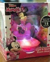 Disney Juinior Mickey Minnie Mouse Light Sound ROOM GLOW Night Light Limited