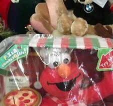 Singing Pizza Elmo 2007 Plush Toy Sesame Street Fisher Price Stuffed Animal Toy