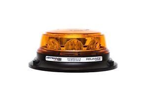 Low Profile Three Bolt Mount R65 Rotating Flashing Amber LED Strobe Beacon