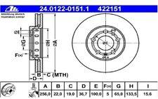 ATE Juego de 2 discos freno Antes 256mm ventilado para SEAT CITROEN