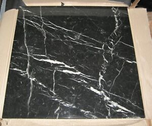 Tischplatte Marmor  Platte Schwarz 70 X 70 cm