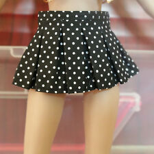 "HOT 1:6 Scale Dots Pleated Mini Skirt For 12"" PH JO OB Female Action Figure"