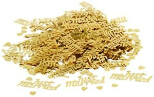 Just Married Gold Table Sprinkles