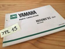 Yamaha parts list RD50MX 5L2 1982 Belgium RD50 MX RD 50 catalogue pièce détachée