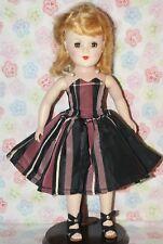 "PRETTY! Vintage 14"" Blonde Mary Hoyer Hard Plastic Strung Doll"