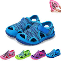 Toddler Summer Kids Baby Girl Boys Beach Non-slip Outdoor Sneakers Sandals Shoes