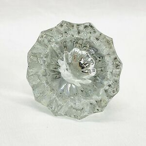"""12 Point Crystal Clear Glass Door Knob One Knob Antique 2"""" x 2"""""""